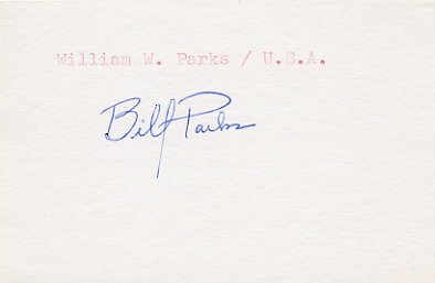 1960 Rome Sailing Bronze WILLIAM PARKS Autograph 1980s