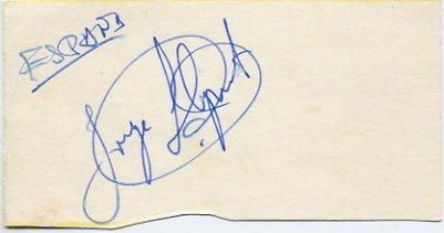 1980 Moscow Athletics 50 km Walk Silver JORGE LLOPART Autograph