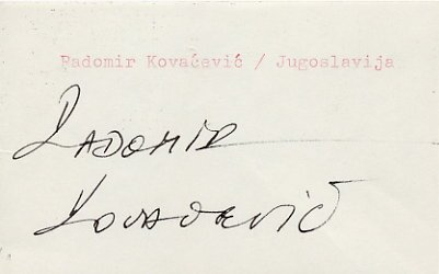 1980 Moscow Judo Bronze RADOMIR KOVACEVIC  Autograph 1980s