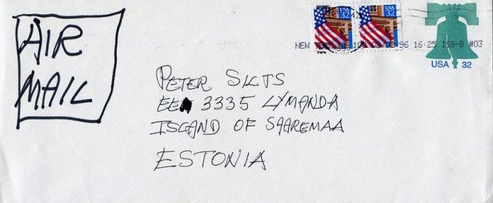 American Novelist KURT VONNEGUT Handwritten Envelope from 1996