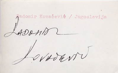 1980 Moscow Judo Bronze RADOMIR KOVACEVIC  Autograph 1980s #2