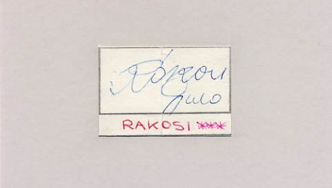 1960 Rome Football Bronze & 1962-66 FIFA World Cup GYULA RAKOSI Autograph 1963