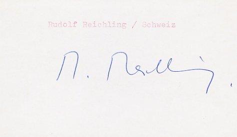 1948 London Rowing Silver RUDOLF REICHLING Autograph