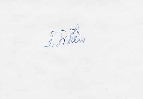 1952 Helsinki Equestrian Gold FOLKE FROLEN Autograph #2