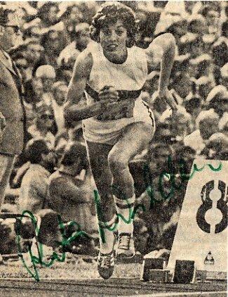 1972 Munich Athletics 400m & Relay Medalist RITA WILDEN Autograph 1970s