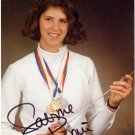 1988-2000 Fencing Five Olympic Medals SABINE BAU Autographed Photo 1988