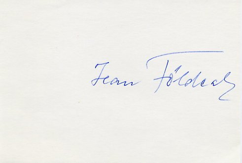 1932 Los Angeles Wrestling Silver JEAN FOLDEAK  Autograph
