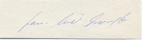 1976 Montreal Football Gold HANS ULLRICH GRAPENTHIN Autograph