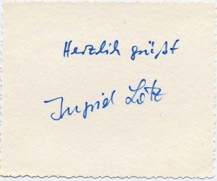 1964 Tokyo Athletics Discus Silver INGRID LOTZ  Autograph