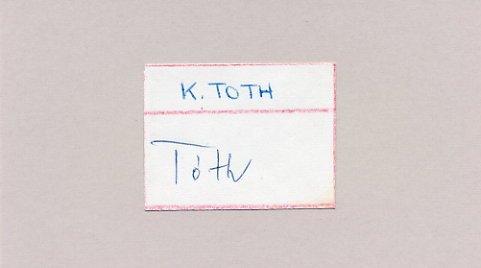 1972 Munich Football Silver KALMAN TOTH  Autograph 1965