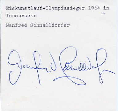 1964 Innsbruck Figure Skating Gold MANFRED SCHNELLDORFER Autograph
