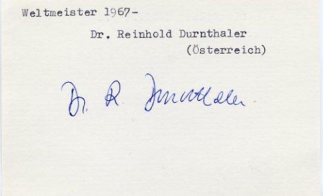 1964 Innsbruck & 1968 Grenoble Bobsleigh Silver REINHOLD DURNTHALER Autograph