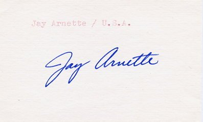 1960 Rome Basketball Gold JAY ARNETTE Autograph '80s
