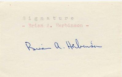 1956 Stockholm Equestrian Bronze BRIAN HERBINSON Autograph 1980s
