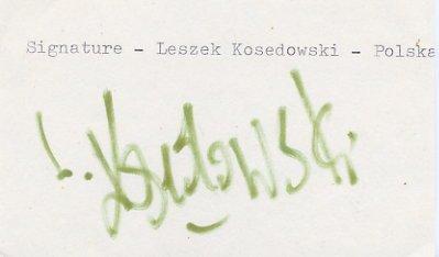 1976 Montreal Boxing Bronze LESZEK KOSEDOWSKI  Autograph 1980s