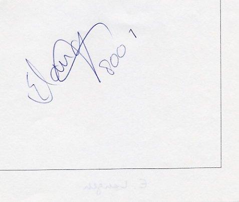 1992 Barcelona Athletics 800m Gold ELLEN van LANGEN Autograph