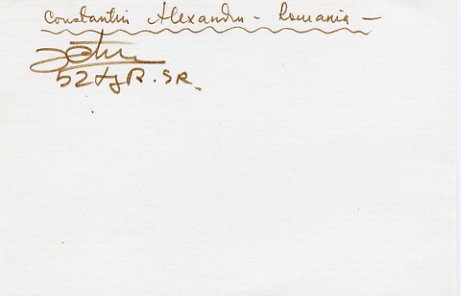 1980 Moscow Wrestling Silver CONSTANTIN ALEXANDRU Autograph 1983 #2