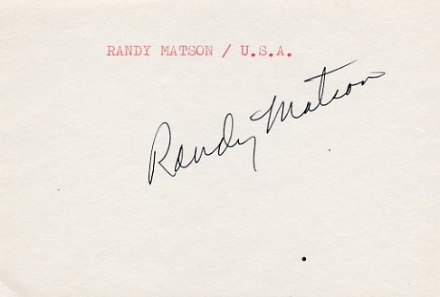1968 Mexico City Athletics Shot Put Gold & WR  RANDY MATSON Autograph 1980s