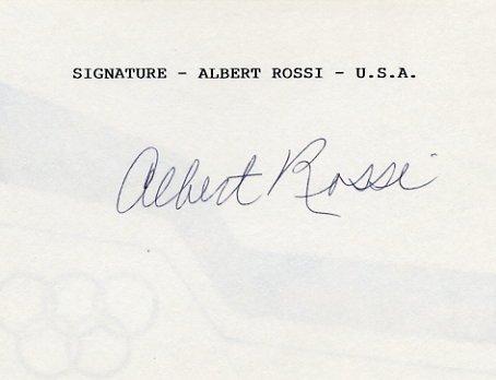 1952 Helsinki Rowing Bronze ALBERT ROSSI Autographed Card #3