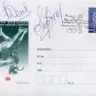 Two-Time Figure Skating Ice Dance World Champions DENKOVA / STAVISKI Autographed Cover 2006