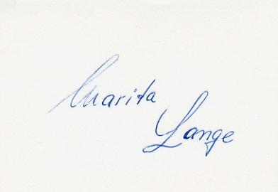 1968 Mexico City Athletics Shot Put Silver MARITA LANGE Autographed Card