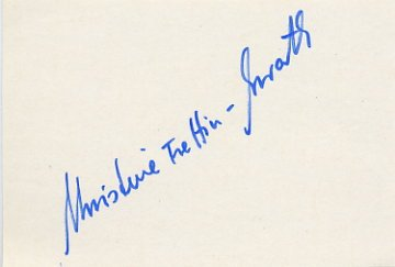 1974 Figure Skating World Champion & 1976 Innsbruck Bronze CHRISTINE ERRATH Autograph