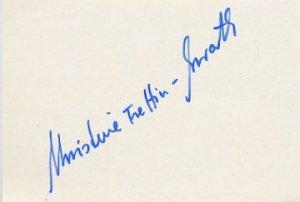 1974 Figure Skating World Champion & 1976 Innsbruck Bronze CHRISTINE ERRATH Autograph