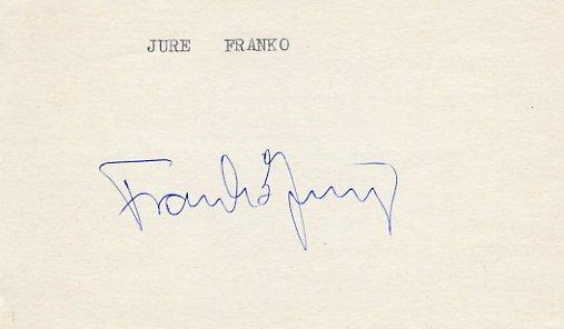 1984 Sarajevo Alpine Skiing Silver JURE FRANKO Autograph 1984 #2