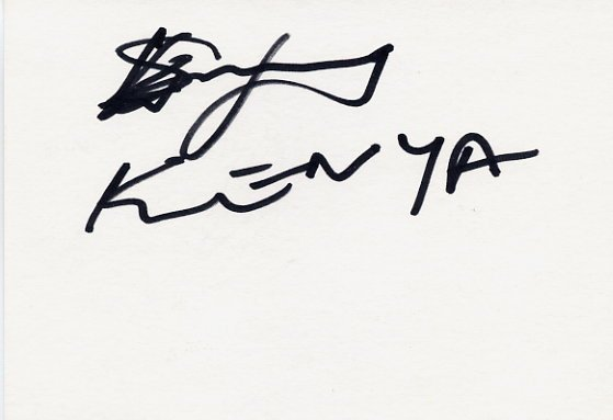 Kenya - 1988 Seoul 400m Olympian LUCAS SANG Autographed Card