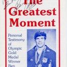 1972 Munich Wrestling Gold BEN PETERSON Autographed Leaflet