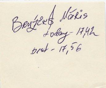 1992 Barcelona Athletics Triple Jump Olympian MARIS BRUZIKS Autograph