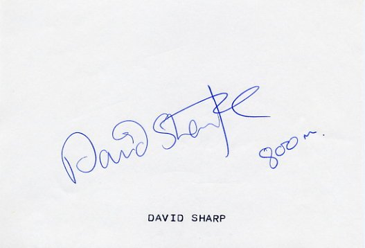1990 European Championships 800m Silver DAVID SHARPE Autograph