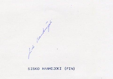 1992 Barcelona Athletics Sprints Olympian SISKO HANHIJOKI Autograph