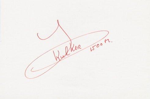 1986 European Championships 1500m Bronze HAN KULKER Autograph