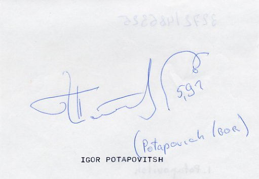 1996-2000 Two-Time Pole Vault Olympian IGOR POTAPOVICH Autograph