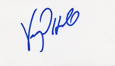 1984 Los Angeles Boxing Silver & WBA - IBF World Champion VIRGIL HILL  Autographed Card #2