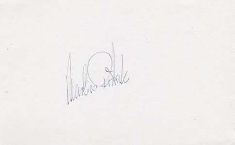 1980 Lake Placid Cross Country Skiing Gold MARLIES ROSTOCK Autograph 1980
