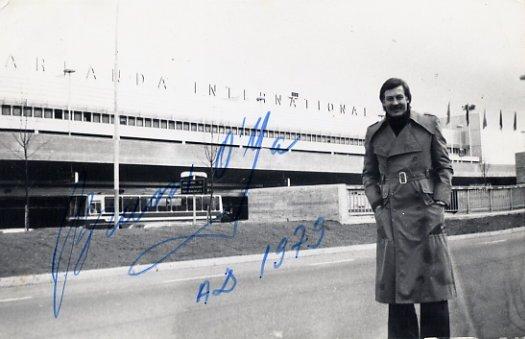 Estonian - Polish Actor BRUNO O' YA Autographed Photo 1979