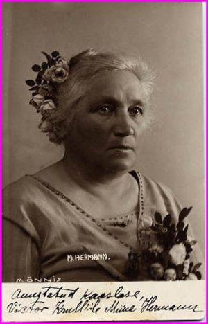 Famous Estonian Composer, Conductor & Organist MIINA HARMA HERMANN Signed Photo RARE