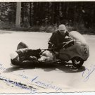 Legendary Estonian Motorcycle Racers PLOOM / SUURKUUSK Autographed Photo 1960s