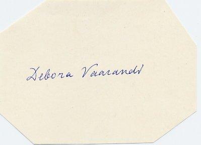 Estonian Poetess & Translator DEBORA VAARANDI Autograph 1970s