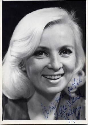 Estonian Actress ADA LUNDVER Autographed Photo 1968