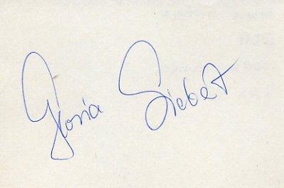 1988 Seoul Athletics 100m Hurdles Silver GLORIA SIEBERT Autograph