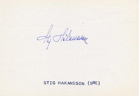 1946 Oslo European Championships 4x100m Relay Gold STIG HAKANSSON Autograph