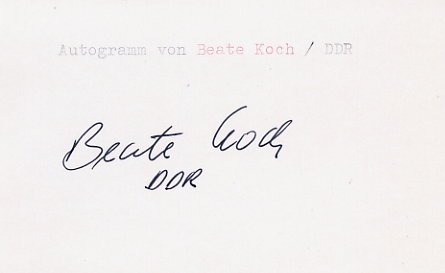 1988 Seoul Athletics Javelin Bronze BEATE KOCH Autograph 1988 #2