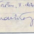 Estonian Actor EINARI KOPPEL Autograph 1968