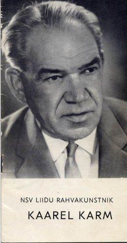 Estonian Actor KAAREL KARM  Autographed Brochure 1969
