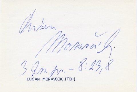 1971 European Championships 3000m Steeplechase Silver DUSAN MORAVCIK  Autograph