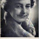 Estonian Actress AINO TALVI  Autographed Brochure 1960s - 3 Signatures!