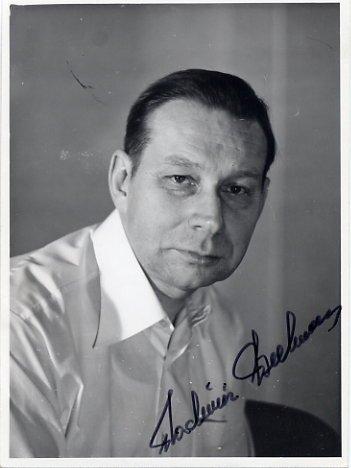 Estonian Writer & Translator VLADIMIR BEEKMAN Autographed Photo 1970s